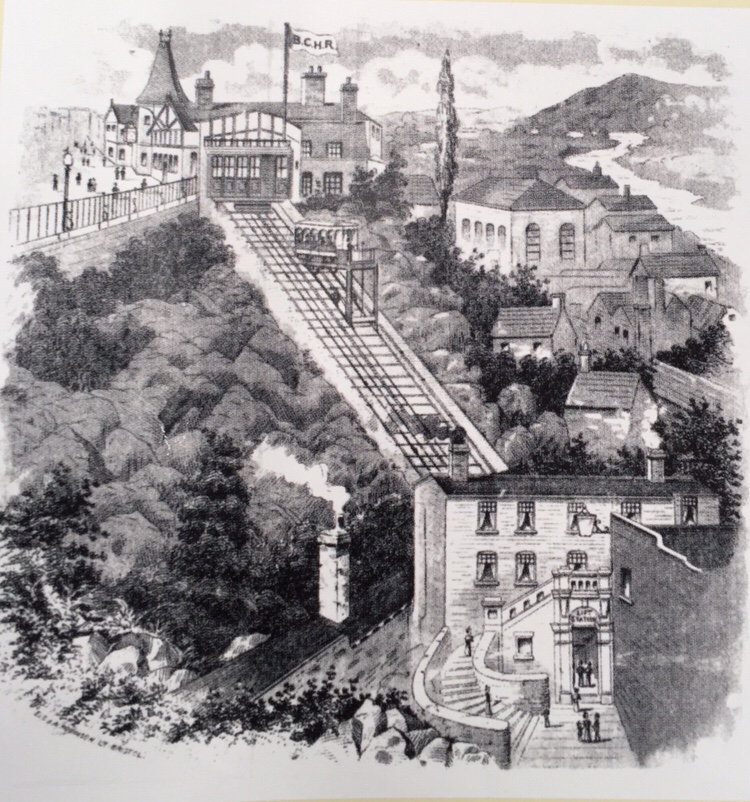 Photo taken from Bridgnorth Cliff Railway leaflet